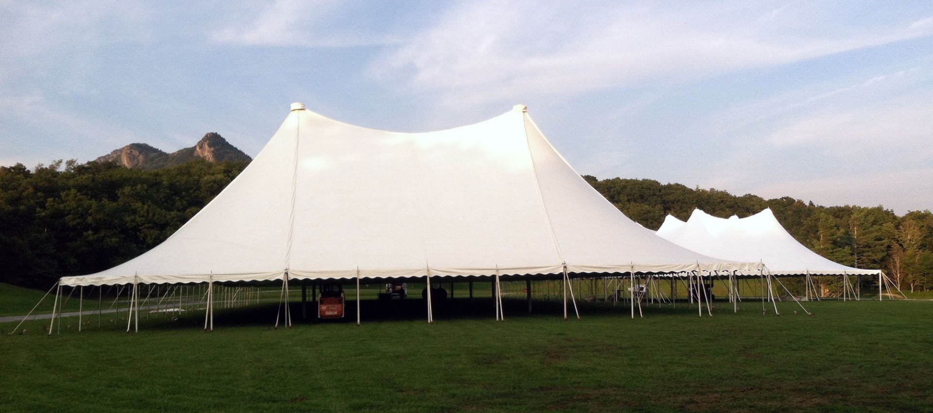 Large white awnings and tents for rent