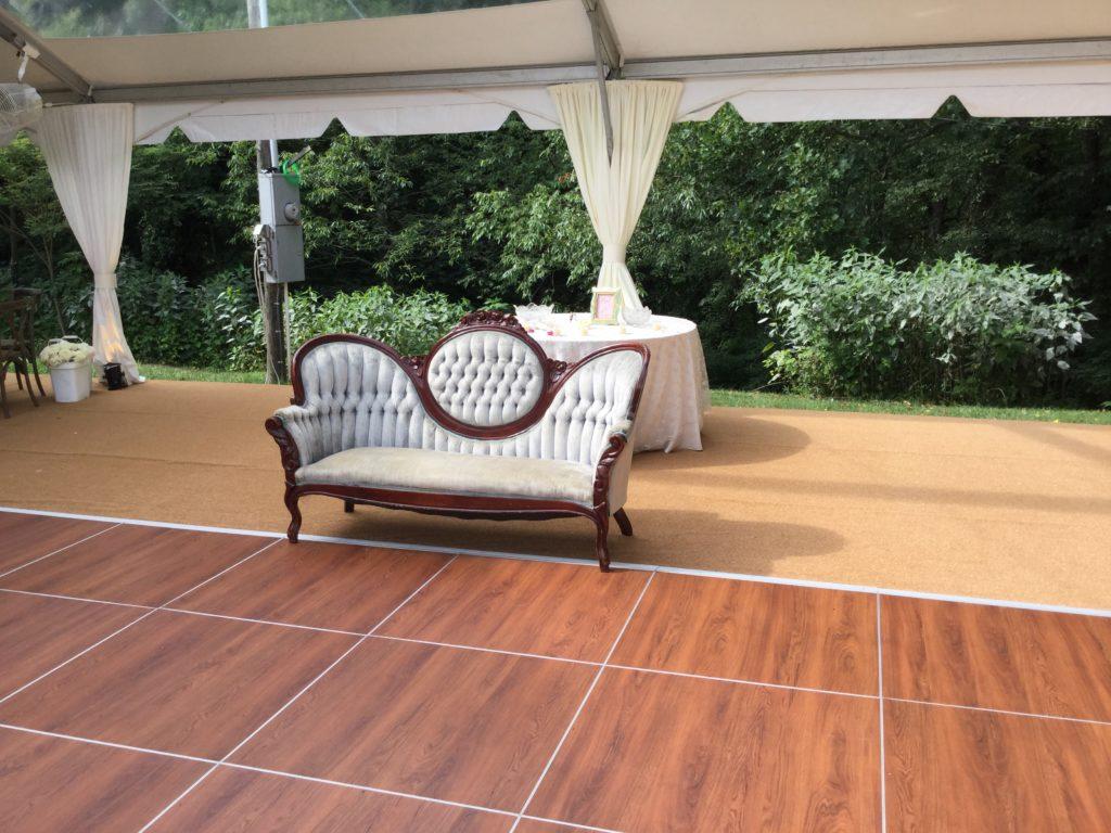 outdoor dance floor rental under tent
