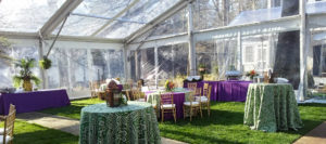 Tables Covered in Linen Rentals