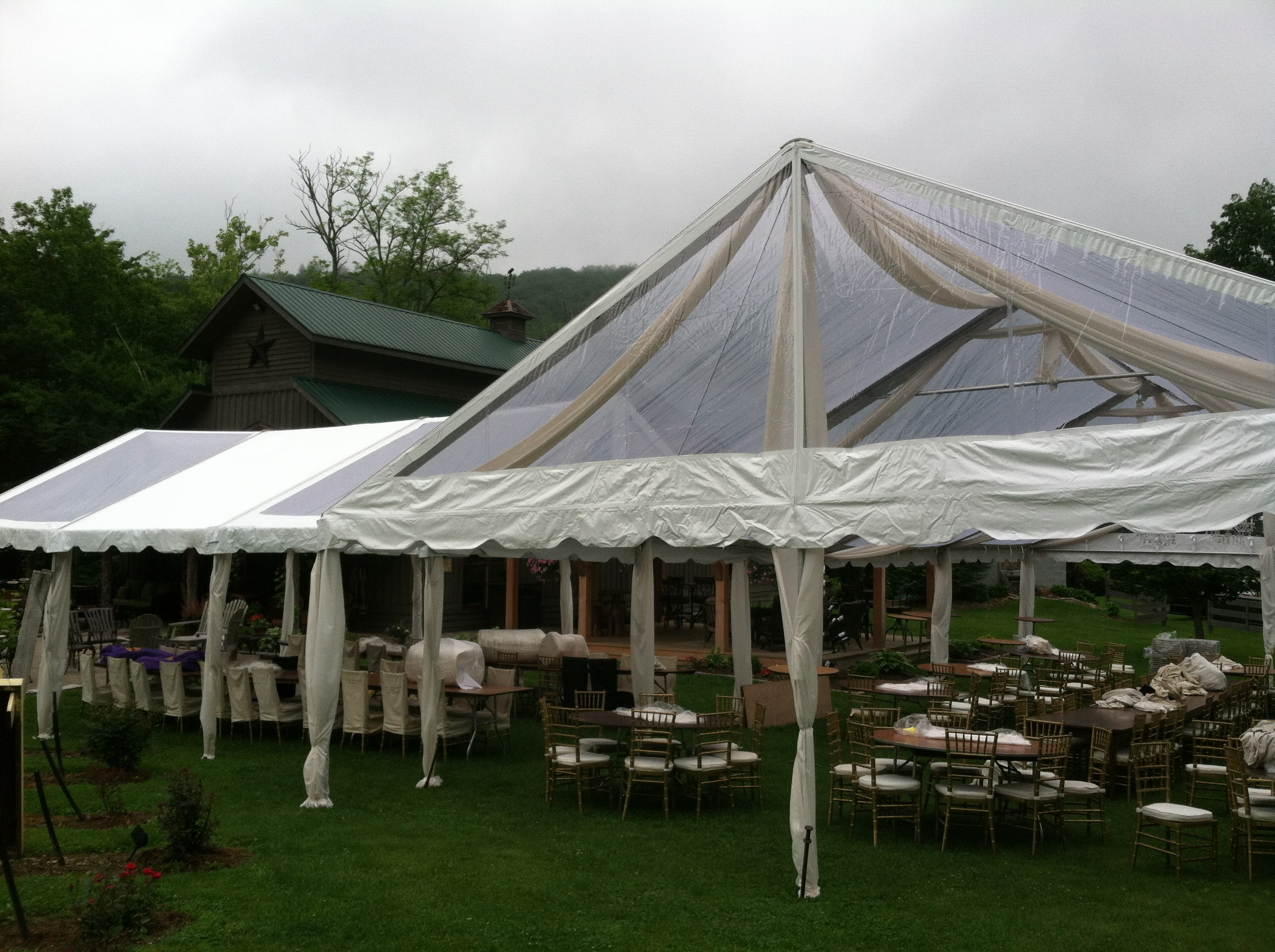 multi-section event tent rental